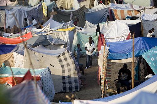 Displaced Haitians Set Up Encampment at Port-au-Prince Golf Course