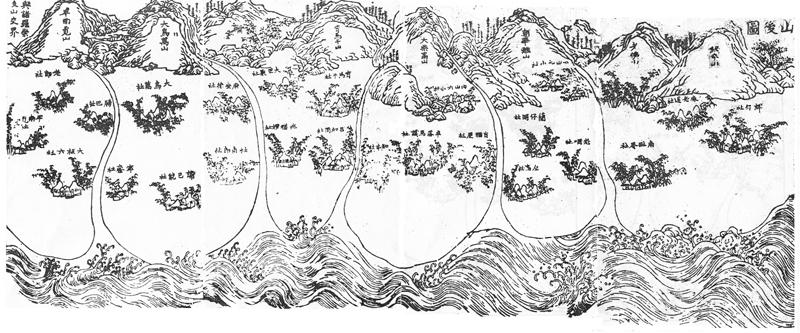康熙五十八年(1719)《鳳山縣志》「康熙鳳志山後圖」