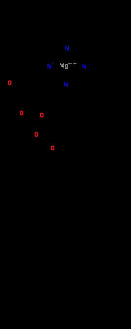 葉綠素a。圖片來源:維基百科