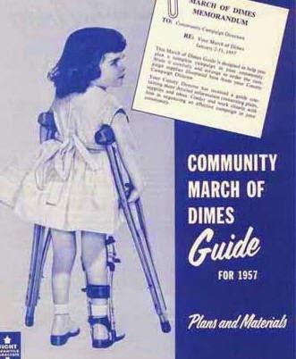 March of Dimes為疫苗測試製作的募款海報。 圖片來源:wiki