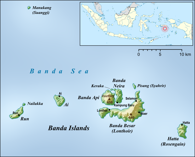 班達群島。圖片來源:wiki