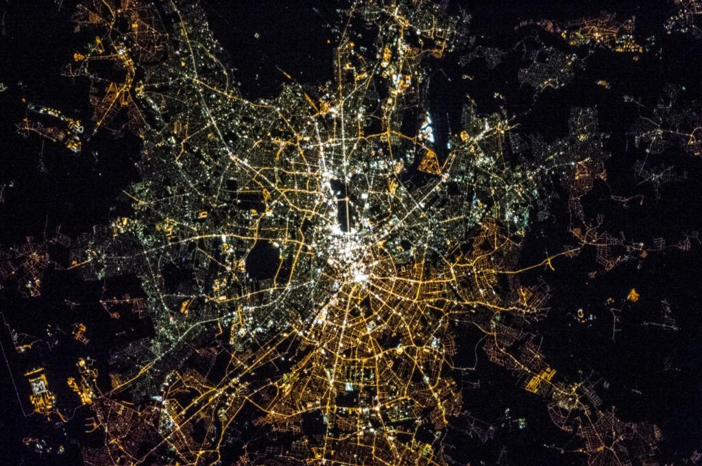 德國柏林空拍圖圖片來源:The Gateway to Astronaut Photography of Earth