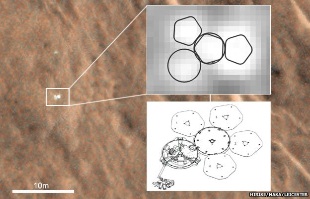 Image analysts are confident that the features seen are those of Beagle2