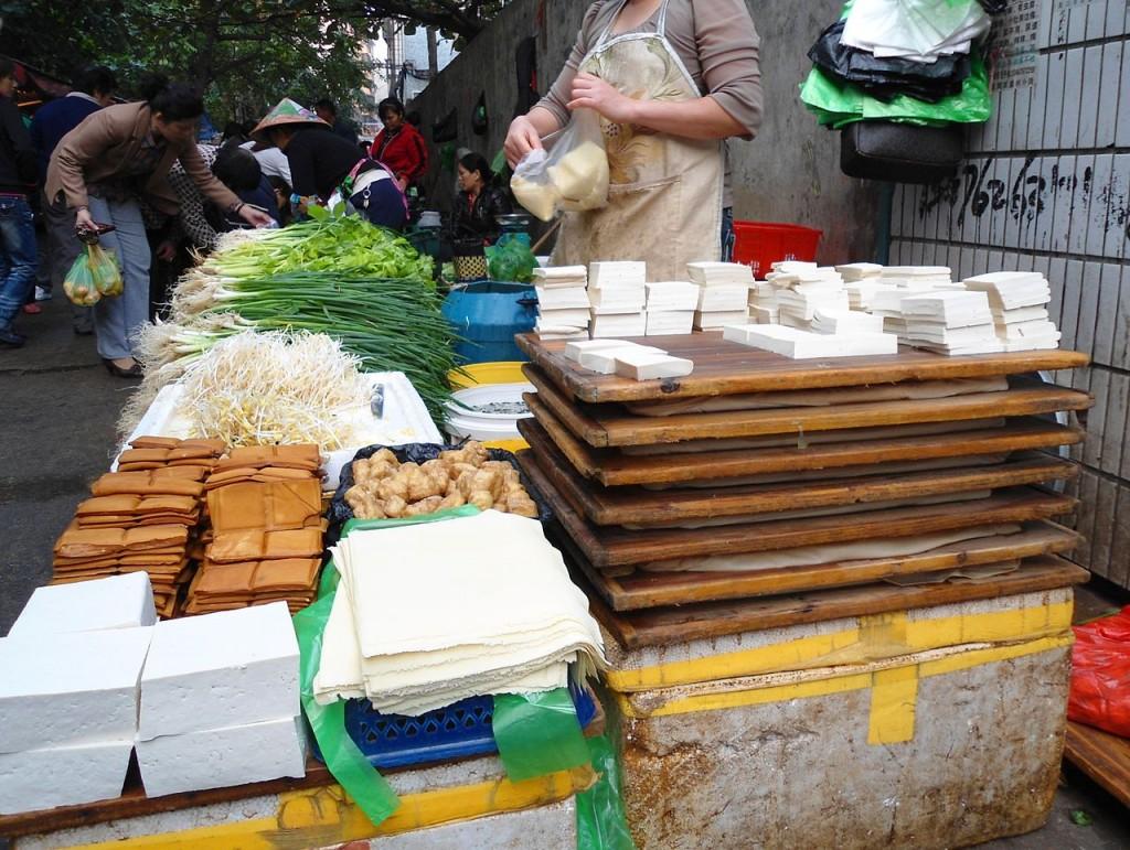 各種豆製品。圖片來源:wiki