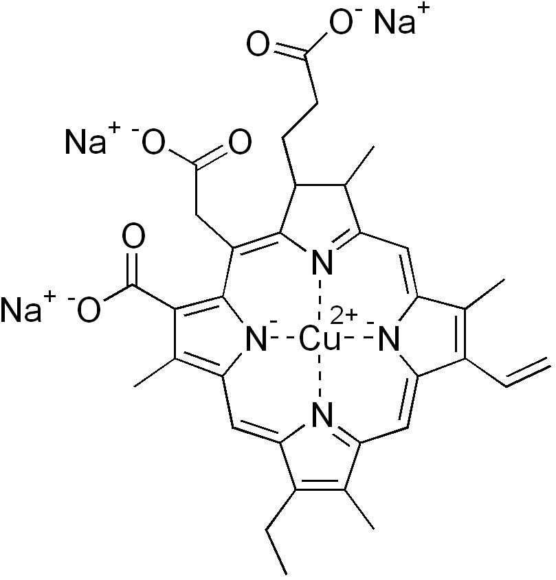 葉綠酸。圖片來源:wiki