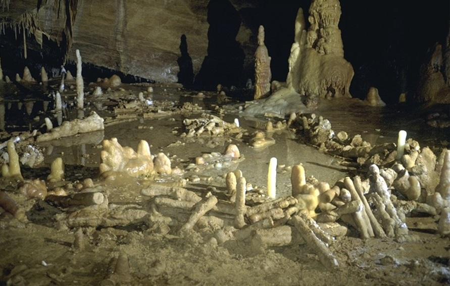 法國布呂尼屈厄洞穴的尼安德塔人傑作(Joubert J, et al. Nature (2016) doi:10.1038/nature18291)