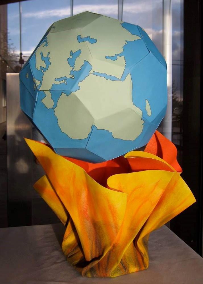 派騰的作品《全球暖化》,這是派騰為加州大學柏克萊分校能源生物科學研究所(Energy Biosciences Institute)的展覽所創作的作品。