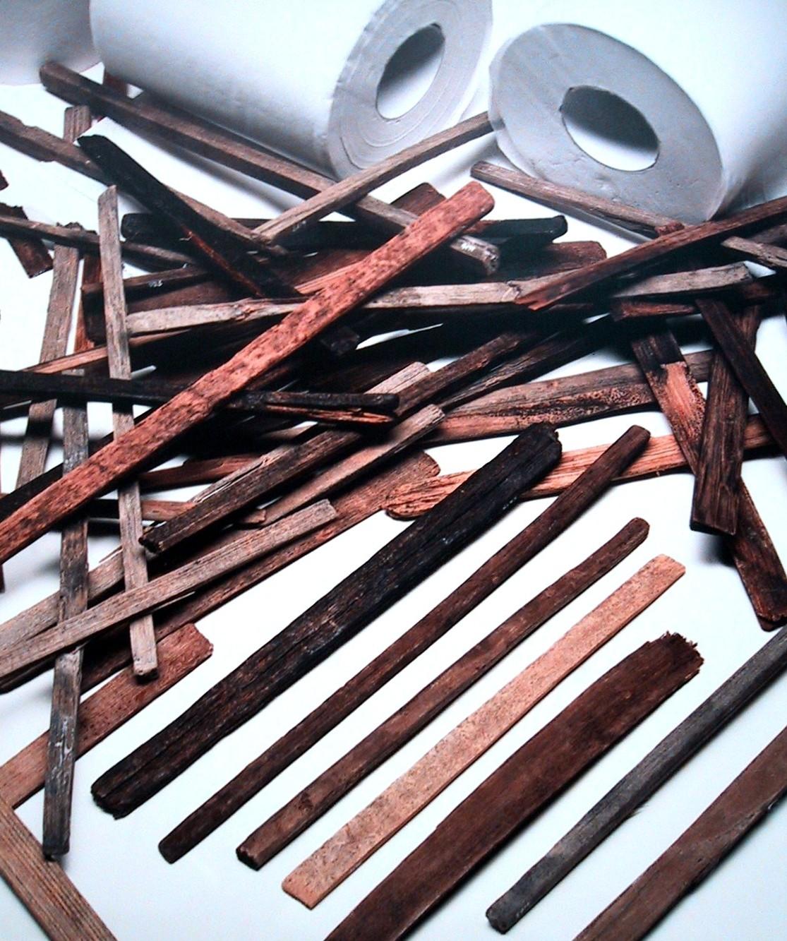 本奈良時代的廁簡。圖片來源:Wiki