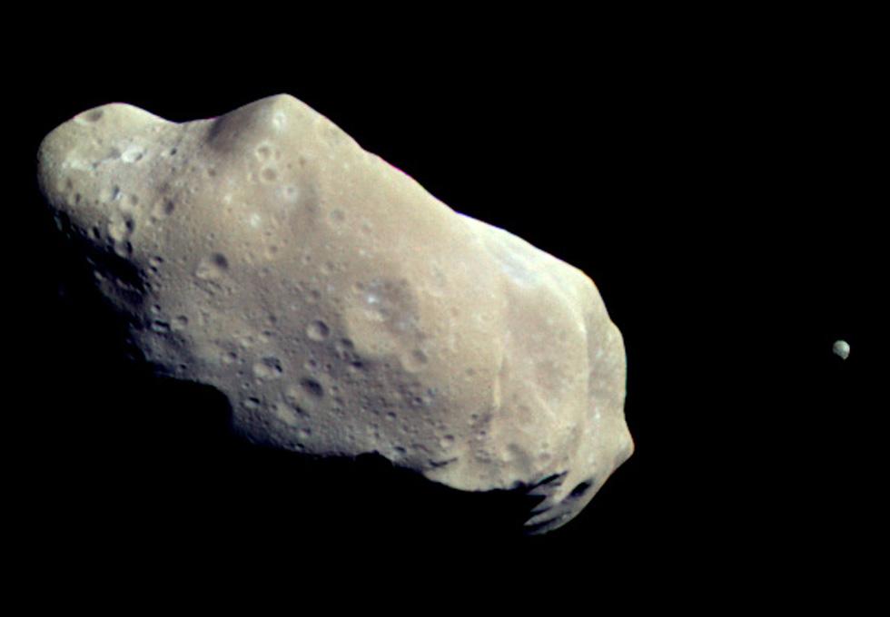 小行星243與其衛星(圖像來源:NASA/JPL)