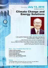 【科學講座0713】Climate Change and Energy Solutions